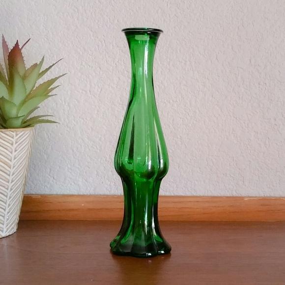 Vintage Avon Emerald Green Glass Bud Vase